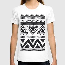 Tribal black and white T-shirt