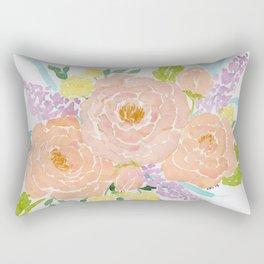 Loose Spring Floral watercolor bouquet Rectangular Pillow