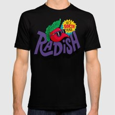 Radish Black Mens Fitted Tee X-LARGE