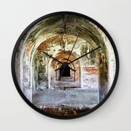 Arches of Fort Morgan Wall Clock