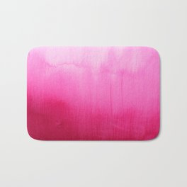 Modern fuchsia watercolor paint brushtrokes  Bath Mat