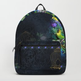 Wonderful birds with flowers Backpack