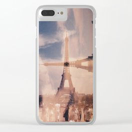 Dueling Eiffel Towers V2 // Paris Clear iPhone Case