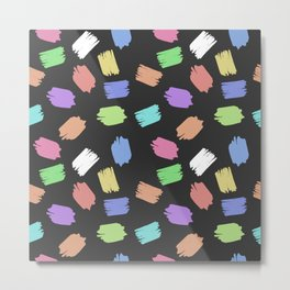 COLORFUL BRUSH  Metal Print