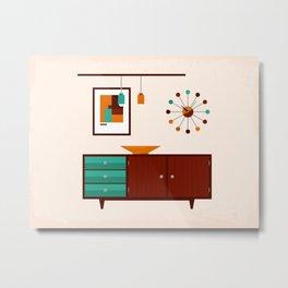 Mid-Century Modern Living - Sideboard Metal Print