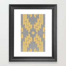 Concrete & Aztec Framed Art Print