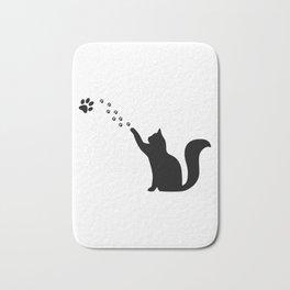 Cat paw, crazy cat lady gift Bath Mat