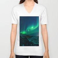 aurora V-neck T-shirts featuring Aurora by StayWild