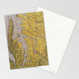 Vintage Pictorial Map of Virginia (1861) Stationery Cards