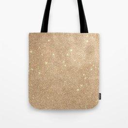 Gold Glitter Chic Glamorous Sparkles Tote Bag