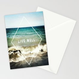 Live Well Stationery Cards