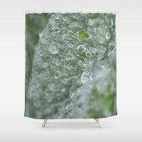 ukraine Shower Curtains featuring Ukraine dew drops by Stef and Stuff...