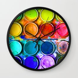 All About Color Paint Wall Clock