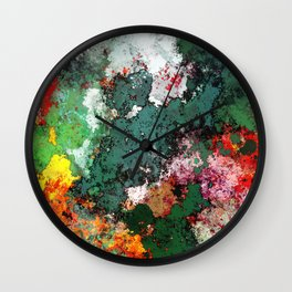 Breaking through rocks Wall Clock