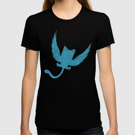 A Small Exceed of Fairy Tail Anime - Blue Happy T-shirt