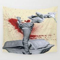 medicine Wall Tapestries featuring Bad medicine by Oscar Varona