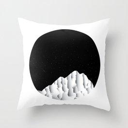 Nightly Mountains Throw Pillow