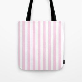 Pastel pink white modern geometric stripes Tote Bag