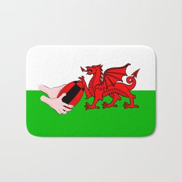 Wales Rugby Flag Bath Mat