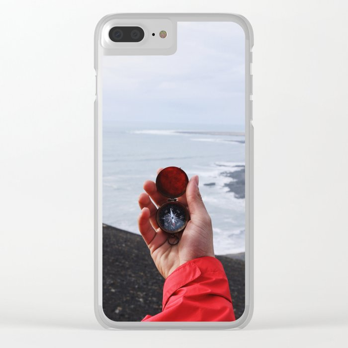 On with the Wanderlust - Find Your Way to Adventure Clear iPhone Case