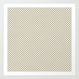 Khaki Polka Dots Art Print