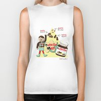 nutella Biker Tanks featuring I {❤} NUTELLA by lilycious