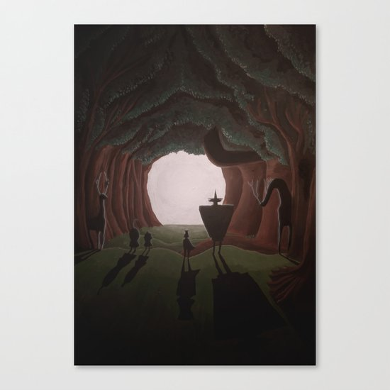 Tunnel in the end of the light. Canvas Print