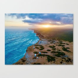 Sunset on the Nullabor, South Australia (landscape style) Canvas Print