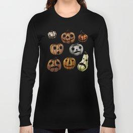 Halloween Pumpkins, a Cornucopia of Jack o' lanterns. spoopy Long Sleeve T-shirt