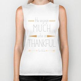 Thankful - Thomas Secker Quote Biker Tank