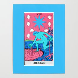 17. The Star- Neon Dreams Tarot Poster