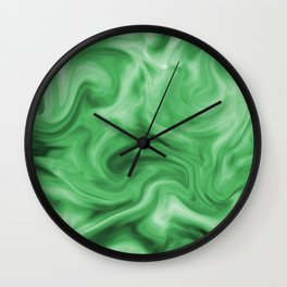 Emerald silk Wall Clock