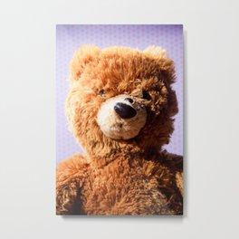 Stuffed Animal Teddy Bear Portrait 2 Metal Print