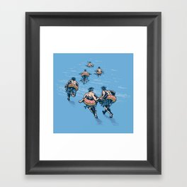 Cops Day Off Framed Art Print