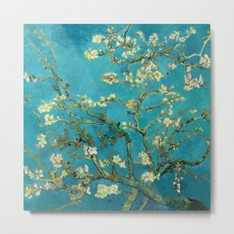 Vincent Van Gogh Blossoming Almond Tree Metal Print