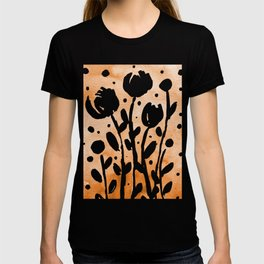 Whimsical watercolor flowers – orange T-shirt
