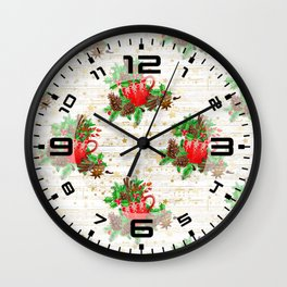 Christmas pine cones #2 Wall Clock