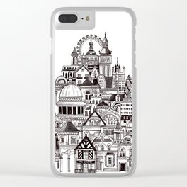 London pencil lines Clear iPhone Case