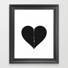 Love hurts Framed Art Print