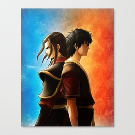 Azula and Zuko Canvas Print