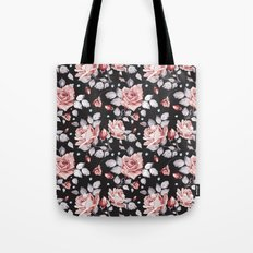 Vintage Pink Rose Flowers Tote Bag