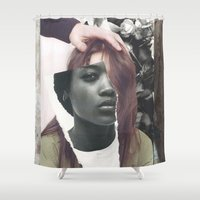 courage Shower Curtains featuring Courage by Pia Hakko