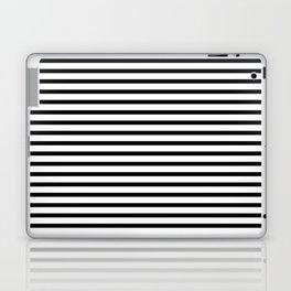 Stripped horizontal black and white pattern Laptop & iPad Skin