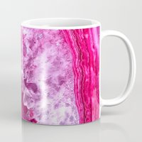 agate Mugs featuring pink agate by haroulita