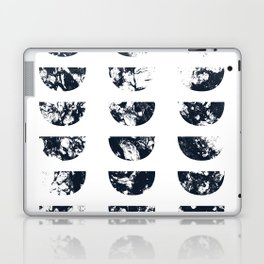 Josie Navy Blue Half Moon Abstract Laptop & iPad Skin