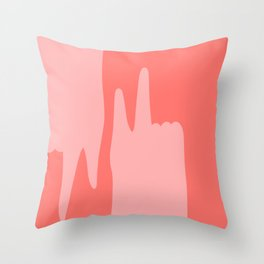 Pointing Fingers Throw Pillow