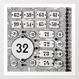 Number 32 Art Print