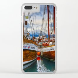 Schooners Hildur and Hauker Clear iPhone Case