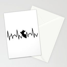 Peruvian heart real beat Stationery Cards