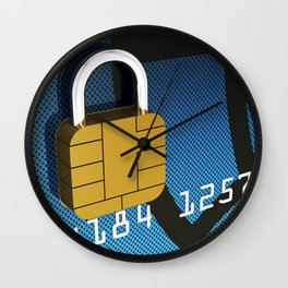 Safe and secure banking Wall Clock